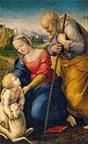 This image of the Holy Family is featured on a prayer card with Pope Francis' prayer for the Synods on the Family.