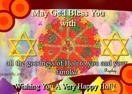 Holi Blessings From Holy God Free Happy Holi Ecards Greeting Cards