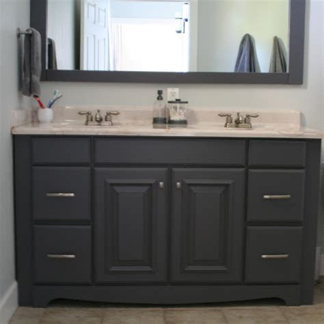bathroom cabinet dark cabinets paint color painting wood