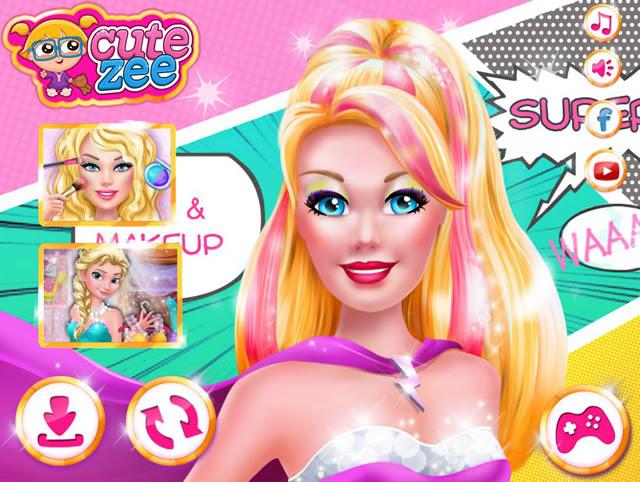 Jouer à Super Barbie Coiffure Et Maquillage Jeux Gratuits