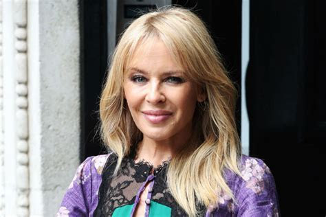 Kylie Minogue looks radiant following engagement rumours
