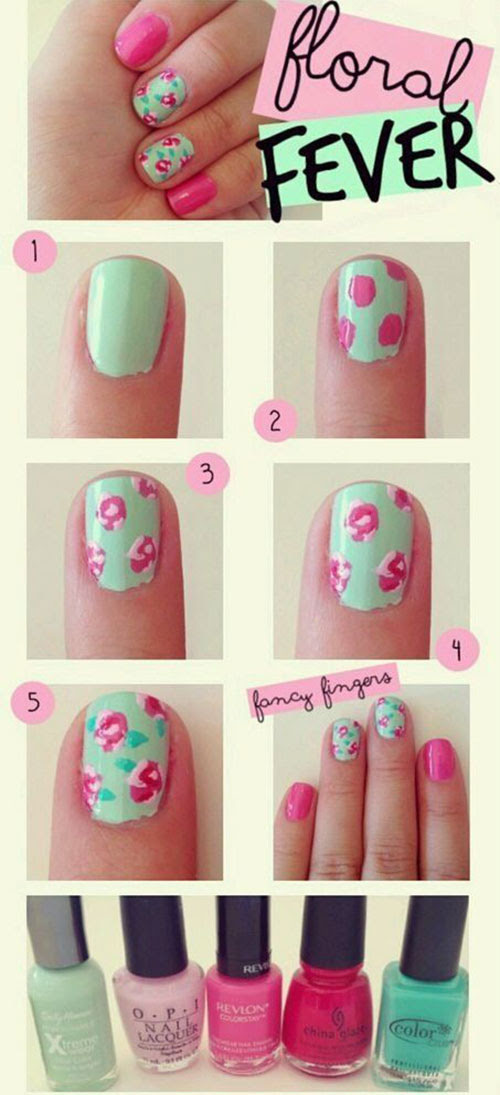 Easy Step By Step Spring Nail Art Tutorials For Beginners ...