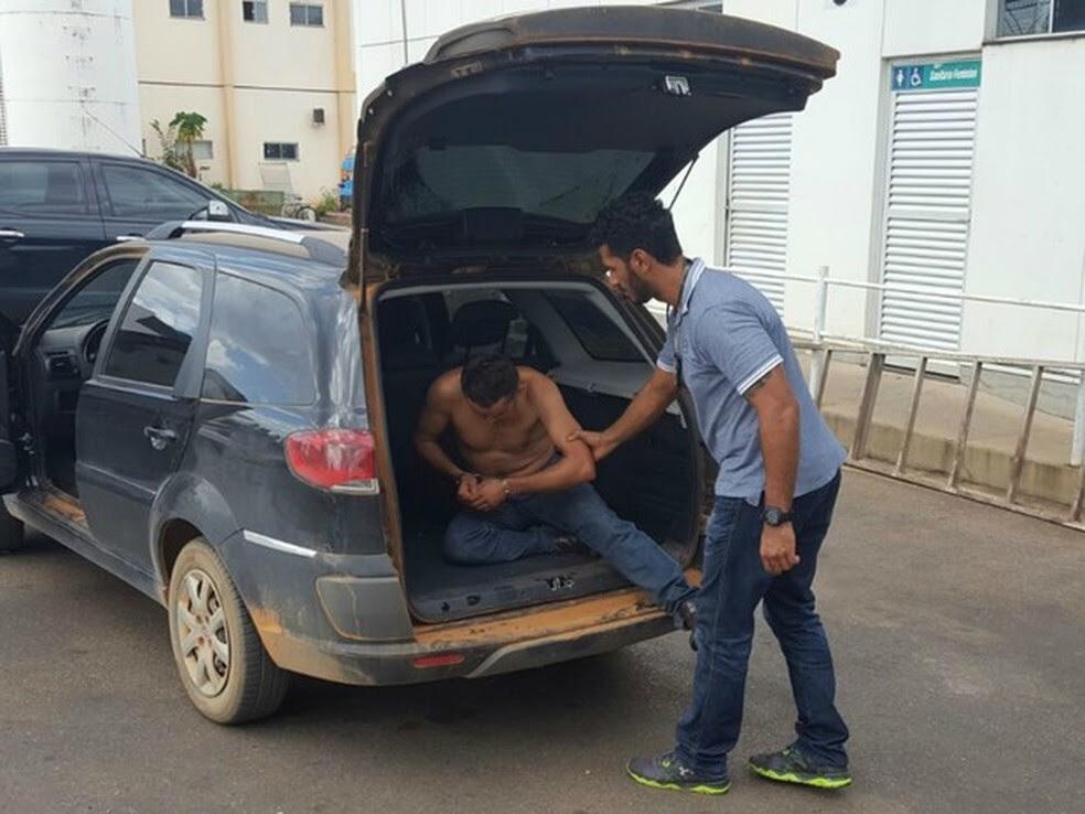 Suspeito foi preso em um hotel pela Polícia Civil de Mato Grosso  (Foto: Divulgação/Polícia Civil de MT)