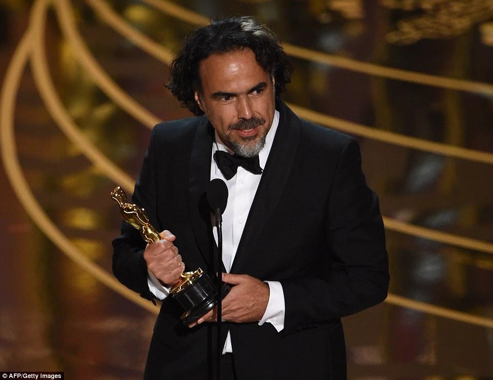 Fazendo história: Iñarritu levou melhor diretor por um segundo ano consecutivo, um feito igualado por apenas dois outros cineastas: John Ford e Joseph L. Mankiewicz