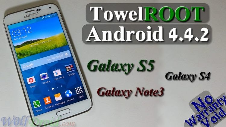 TowelRoot Samsung Galaxy S4/S5 and Note 3 on Android 4 4 2