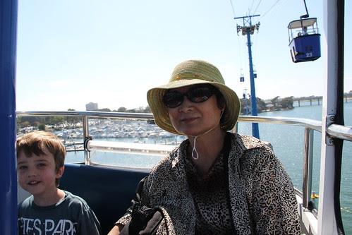 Olsen and Grandma riding together