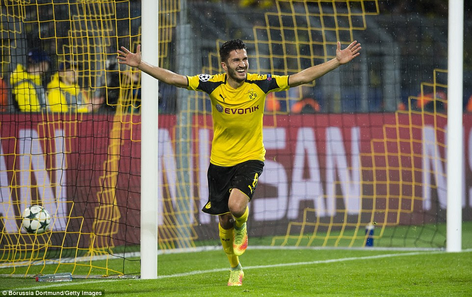 Sahin soon added a third after Warsaw goalkeeper Radosław Cierzniak calamitously failed to deal with Reus' free-kick