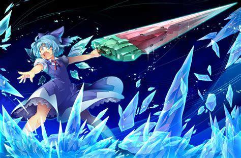Konachan.com ? 149636 blue hair cirno kokka han short hair