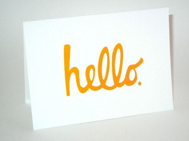 CARD SET (5) - Hello - Screen Print