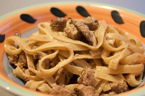 walnut + mushroom pasta of deliciousness