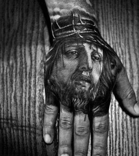 20 Jesus Hand Tattoo Designs For Men Christ Ink Ideas