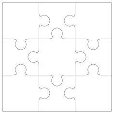 Large Blank Puzzle Pieces   White puzzle piece clip art   Teachery ...
