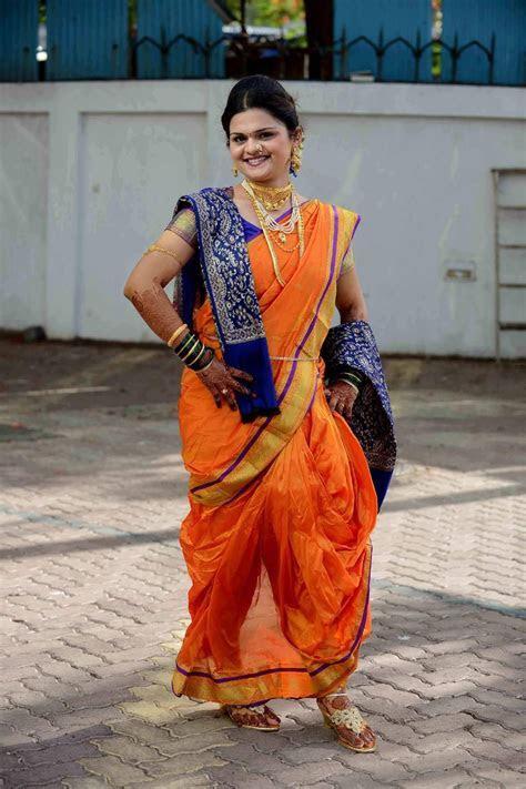 Maharashtrian Bride in Nauvari Saree   kashta saree in