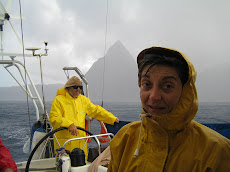Sotto la pioggia su Freya a St Vincent