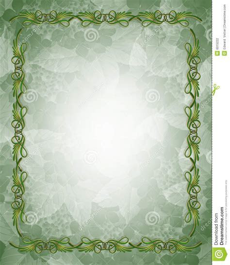 Ornamental Green And Gold Border Stock Photography   Image