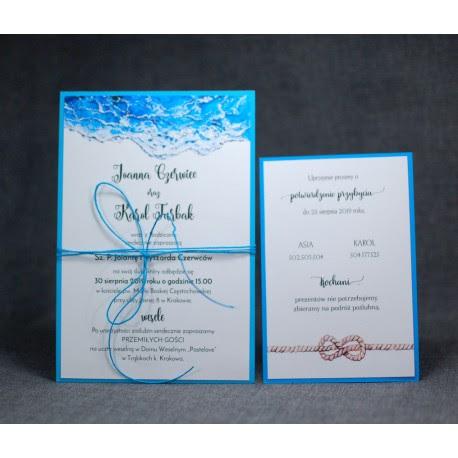 Zaproszenia ślubne Marynistyczne Pracownia Manufaktura