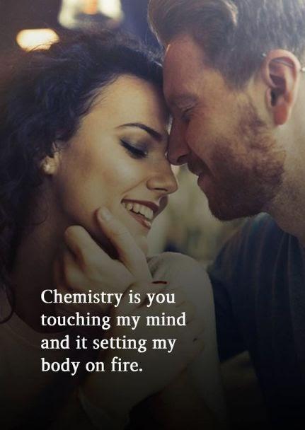 Ai a química...