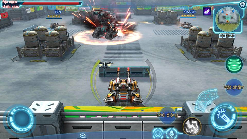 chơi game League of Tanks 3d miễn phí