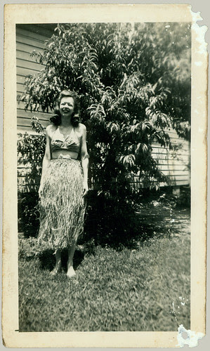 Mom in a grass skirt
