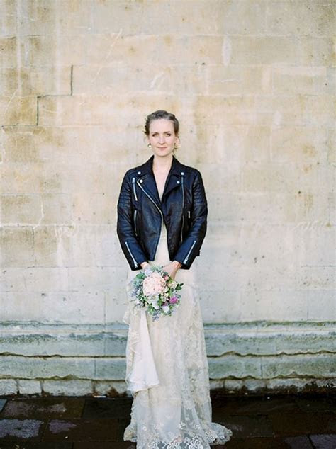 How to: Wear a Leather Jacket with Your Wedding Dress
