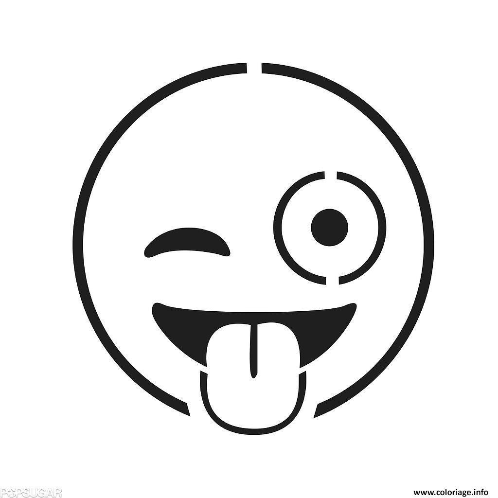 Coloriage emoji faces