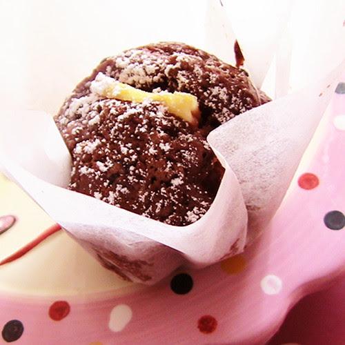Muffin alle pere, noci e cioccolato fondente
