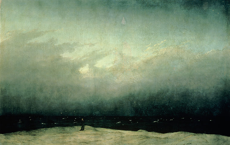 Sea picture: Monk by the Sea by Caspar David Friedrich