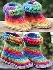 Knit-Look Braid Stitch Boots Duo