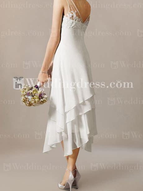 Beach wedding dresses tea length