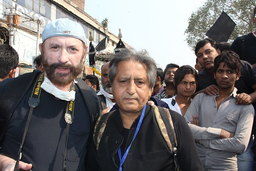 Dr Glenn Losack And Me In Delhi Documenting Moharam Ashura 2013 by firoze shakir photographerno1