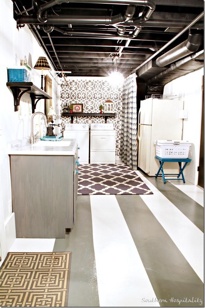long shot of laundry room