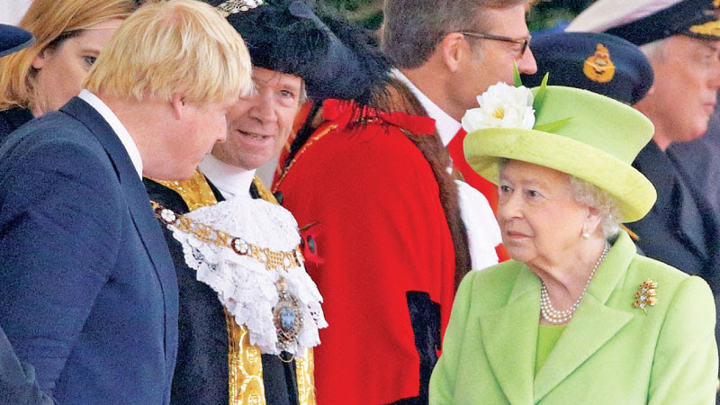 British Prime Minister Boris Johnson with Queen Elizabeth.