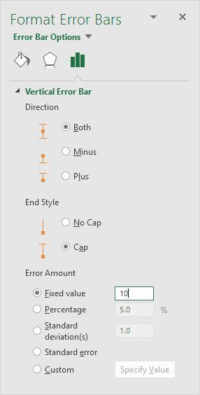 Format Error Bars