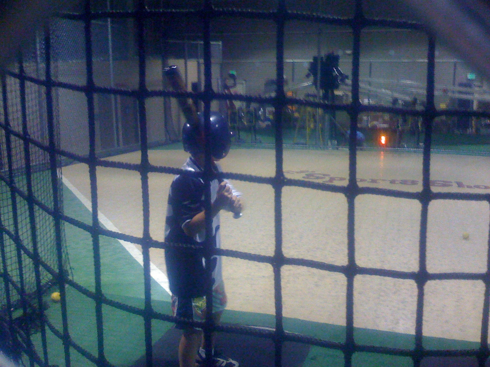 At the Batting Cage
