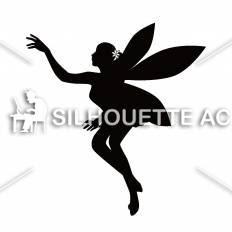妖精シルエット イラストの無料ダウンロードサイトシルエットac