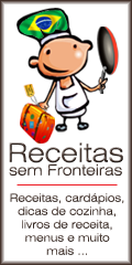 Receitas, cardápios, dicas de cozinha, e livros de receita, menus e muito mais - Receitas sem Fronteiras