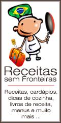 Receitas, cardápios, dicas de cozinha, e livros de receita, menus e muito mais - Receitas sem Fronteiras