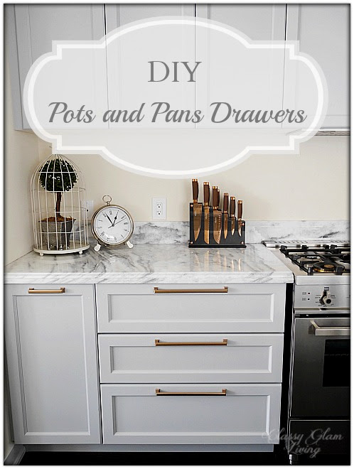 Kitchen Update - DIY Pots and Pans Drawers — Classy Glam ...