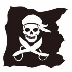 海賊旗シルエット イラストの無料ダウンロードサイトシルエットac