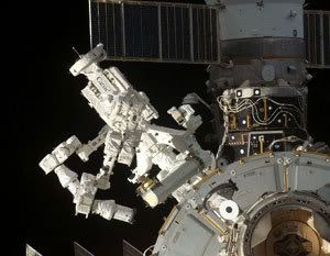 The DEXTRE robot...which was built by the Canadian Space Agency for the ISS project.