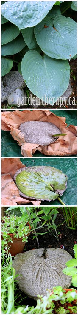 How to Make a Large Leaf Imprint Garden Stepping Stone