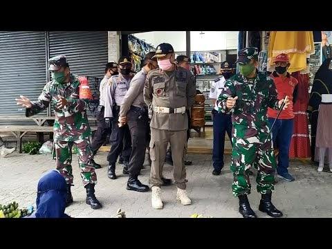 Operasi Gabungan TNI - Polri dan Pemkab Lambar, Penegakan Disiplin Kesehatan Persiapan New Normal