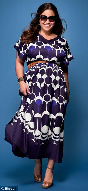 Glamour da moda: A 29-year-old posou para uma série de imagens de plus-size A Limited linha de roupas eloquii