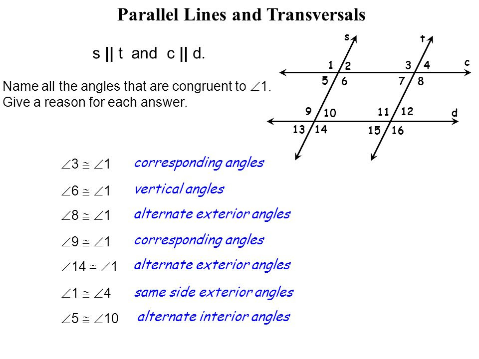 Lesson 2.6 Parallel Lines cut by a Transversal  ppt video online download