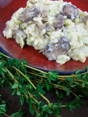 Truffled Risotto with Leeks and Mushrooms