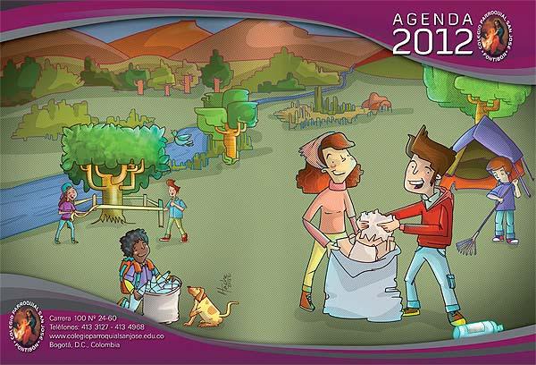 Ilustración y diseño. Agendas Colegio Parroquial San José
