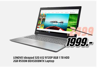 LENOVO Ideapad 320 A12 9720P 8GB 1TB HDD 2GB R530M 80X008NTX Laptop 1999 TL
