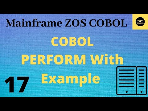 COBOL 7 - Cobol In Detail about Inline & outline Perform