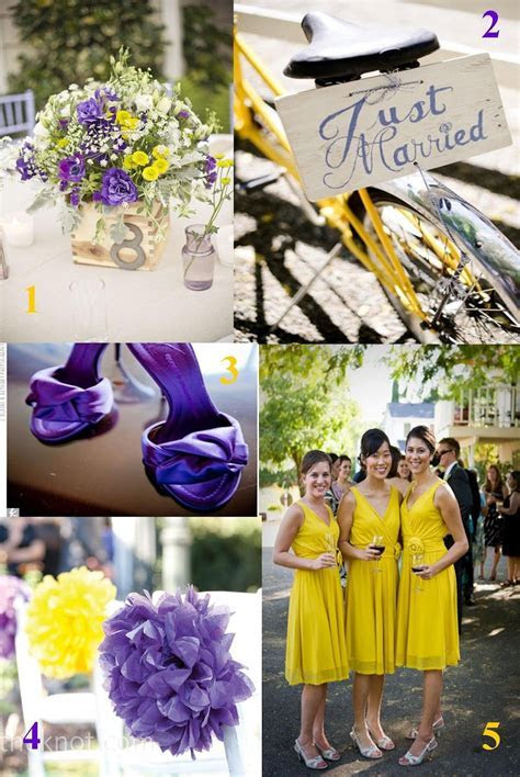 purple and yellow wedding idea     Wedding photos