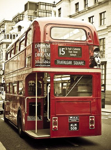 London Bus - outside our BoBelle London HQ at Somerset House